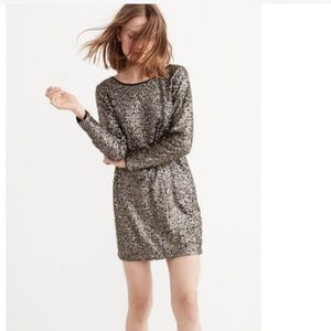 Abercrombie & Fitch Bronze Sequined Dress NWT